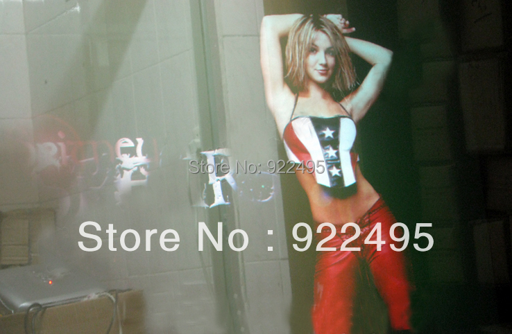 Transparent 5M + Black 1m Rear projection film for hologram display for advertising(China (Mainland))