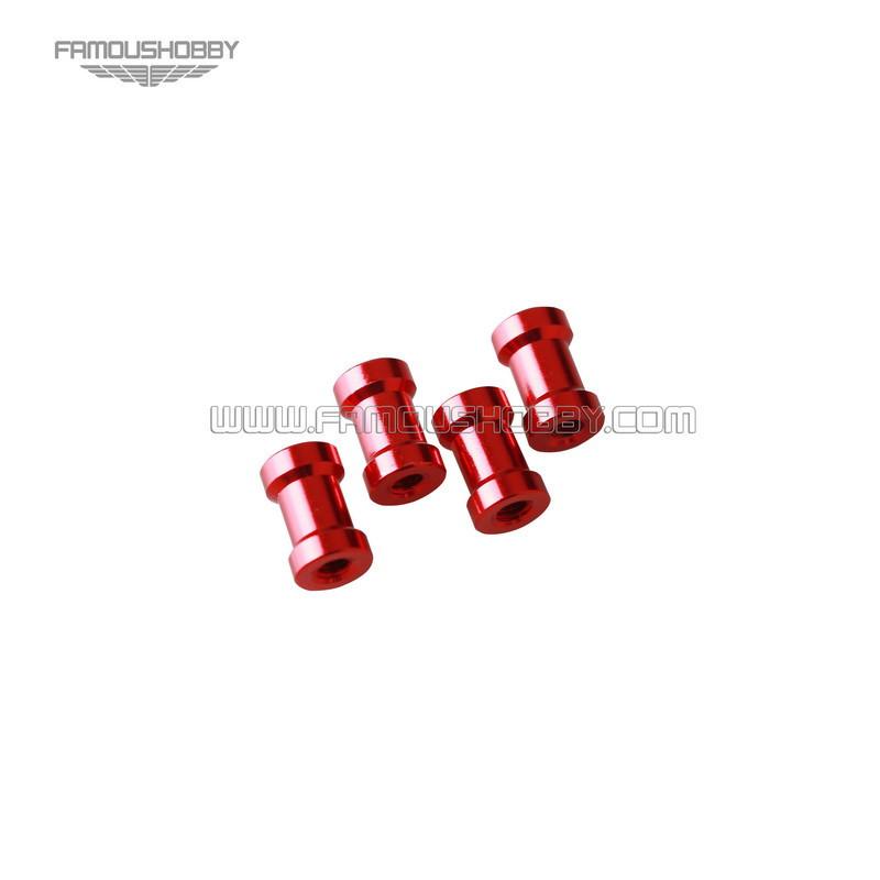 red aluminum spacer SCW097 M3x10