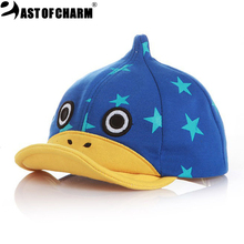 So Lovely! 2016 New Cartoon Duck Baby Cap Kid Hat Baby Hat Baby Beret Cap For Boy High Quality Baby Baseball Cap(China (Mainland))