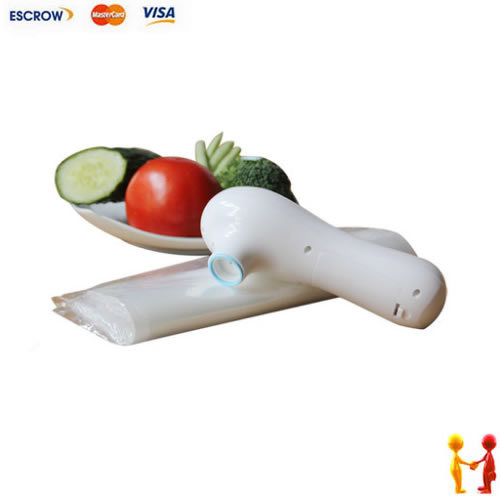 Freeshipping. Food Vacuum Sealer, Snacks sealing machine, handy Plastic Food Saver(China (Mainland))