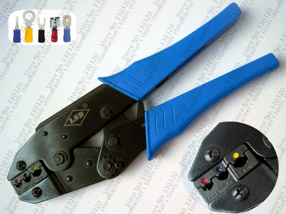 Ratchet terminal crimping tool/plier for crimp insulated terminal and connector 0.5-6mm2 LS-30J(China (Mainland))