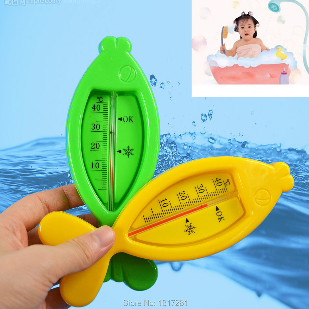 Bath water thermometer Baby Floating Lovely Fish Plastic Float Toy Tub Sensor Temperature Meter(China (Mainland))