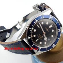 41mm corgeut black dial Sapphire Glass miyota Automatic movement mens Watch C03(China (Mainland))