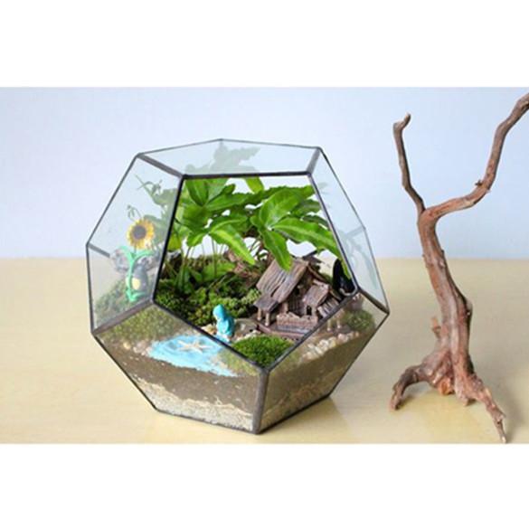 Vintage 15 cm Artificial Glass Flower Planter Vase Terrarium Container Heart 4pcs Wedding Home Decor Glass Vase Clear FL1463 (se