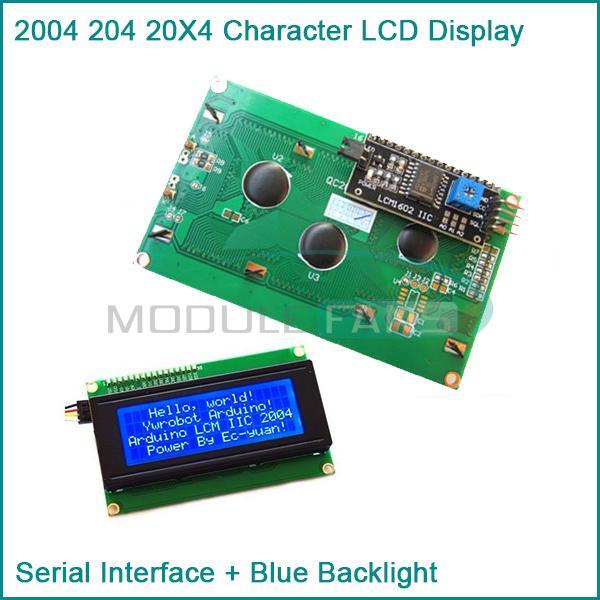 Blue Display IIC I2C TWI SP I Serial Interface2004 20X4 Character LCD Module