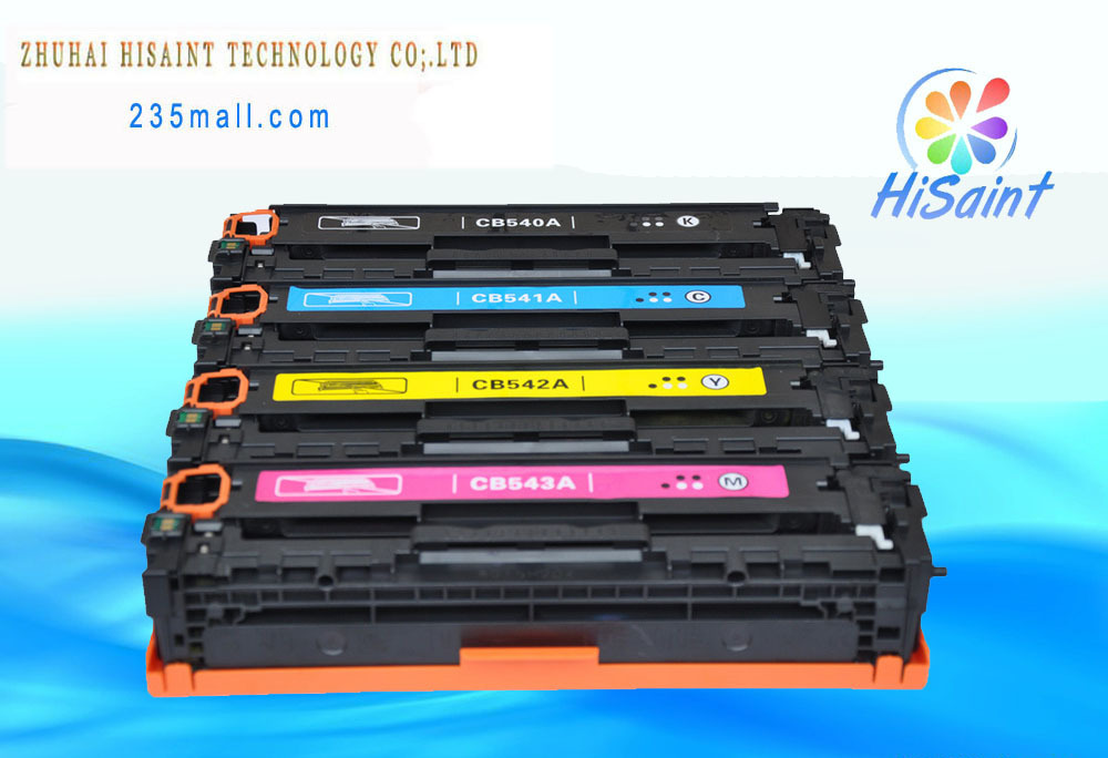 4* HOT Compatible Toner cartridge For HP CB540A CB541A CB542A CB543A  For 125a Color LaserJet CP1210 CP1215 CP1217  BK, C, M, Y<br><br>Aliexpress