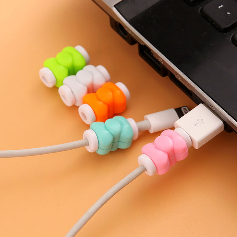 10 pieces Model D1 Wire Cable Protector Table Holder Organizador Vape Papelaria Lovely Plastic Fashion Cord Organizer Wrapped(China (Mainland))