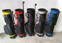 Free shipping portable small golf trolley bag/golf bag with straining beam(China (Mainland))