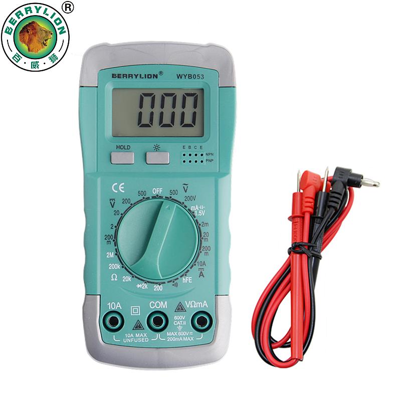 BERRYLION Digital LED Display Multimeter Professional Electric Handheld Tester Meter DC AC Voltage Current Tester(China (Mainland))