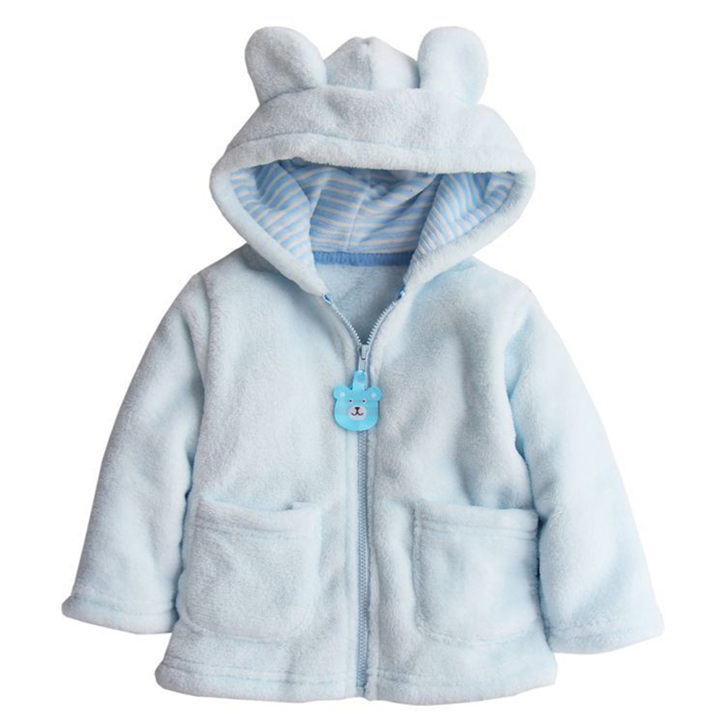 1PC Carter Style Baby Boy Girl Winter Warm Hooded Hoodies Coat Cute Thick Tops Children Coral Velvet Outerwear Free Shipping(China (Mainland))