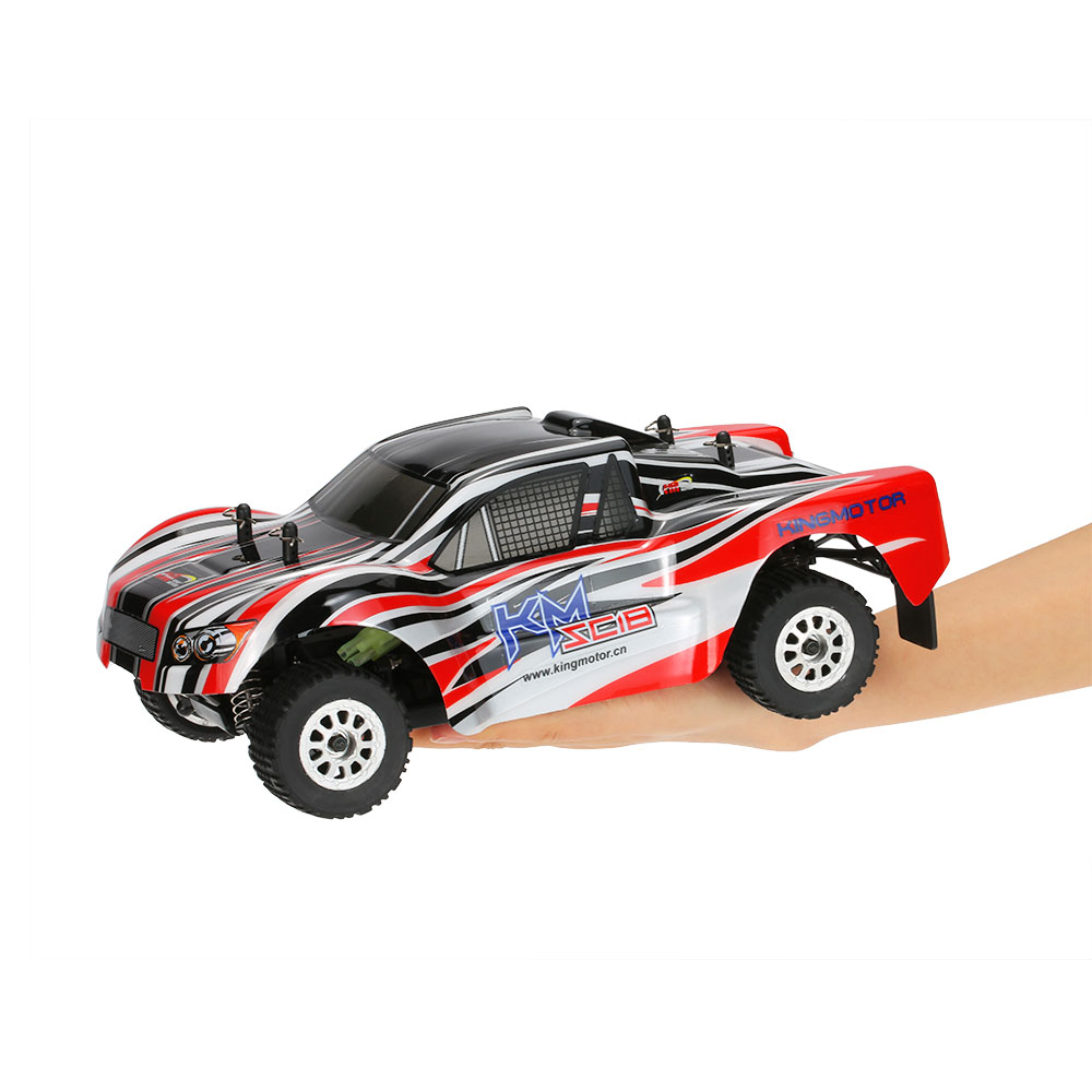 Original RC Car King Motor SC18 2.4GHz 4WD 1/18 Brushed Electric Off-Road Short Course Truck RC Racing Car Max Speed 72km/h(China (Mainland))