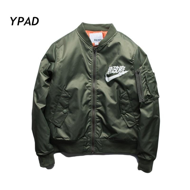 2016 nuevo estilo YPAD Anarquía Big sam YEEZUS KANYE WEST tour Merchandising BOMBER Vuelo MA1 Japonés piloto chaqueta Abrigo grande tamaño(China (Mainland))