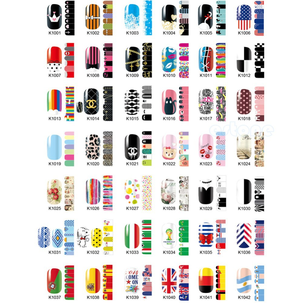 Y122 Full Sheet Self Adhesive Polish Foils Nail Art Decals Stickers Manicure Wrap 1PC(China (Mainland))