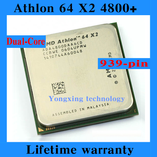 Lifetime warranty Athlon 64 X2 4800+ 2.4GHz 2M Dual Core desktop processors CPU Socket 939 pin 4800 Official version Computer(China (Mainland))