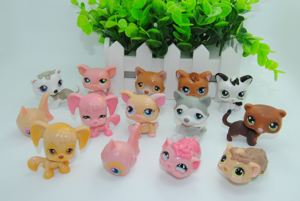 High Quality  Littlest Pet Shop LPS Animals Toys 14 different pieces /set Littl Pet Shop Dolls 2015 New Original Christmas Gift(China (Mainland))