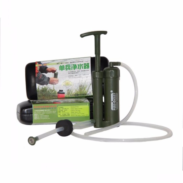 Portable Survival Water Filter Purify Pump
