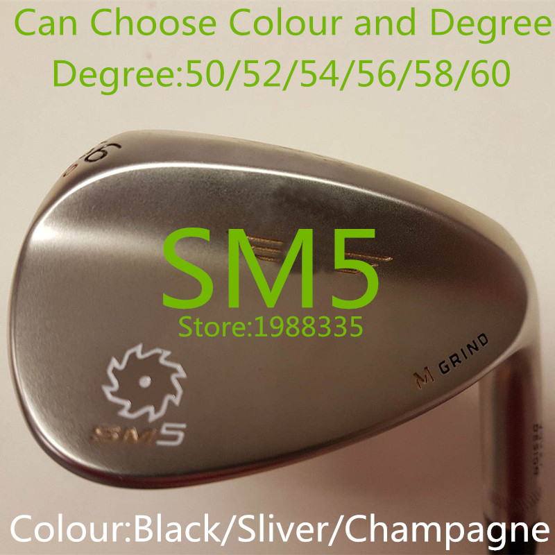2016 Brand New Style Hot Sale Fashion Right Hand Steel SM-5 Golf Club Wedge Degree 52 54 56 58 60 Color Champagne Black Sliver(China (Mainland))