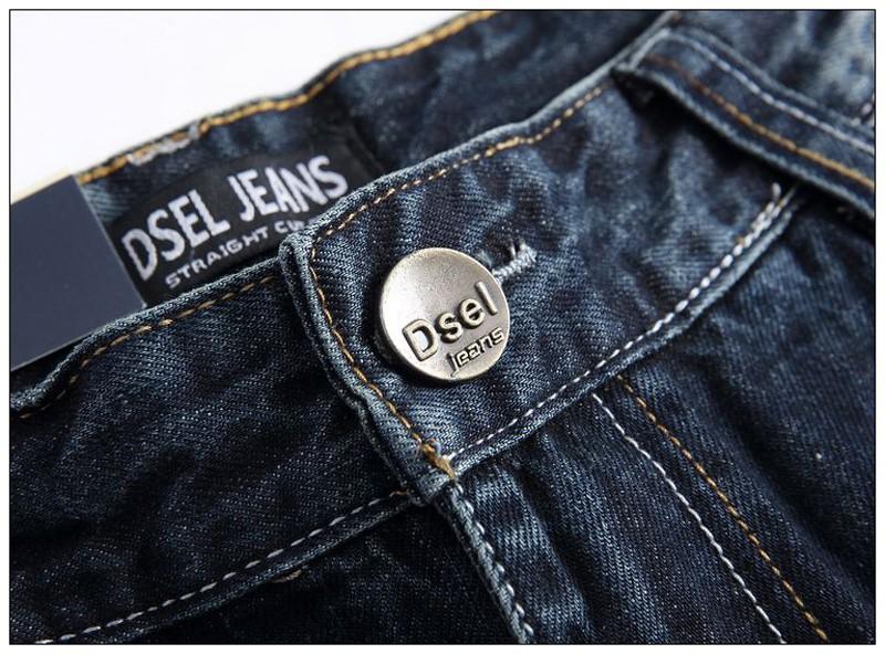 Скидки на Высокое Качество Дизайна Моды Бренд Dsel Мужские Байкерские Джинсы Молния тонкий Прямой Джинсовой Рваные Джинсы для Мужчин Тощий мужские Джинсы Плюс размер