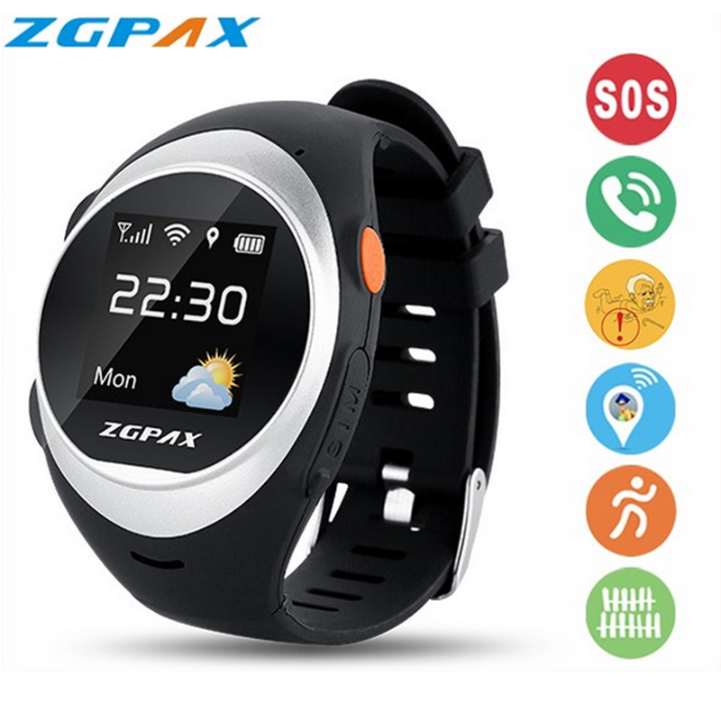 Smartwatch wearable devices smart watch gps watch sport phone ios wrist cell running mobile wristwatch sos runtastic zgpax men(China (Mainland))