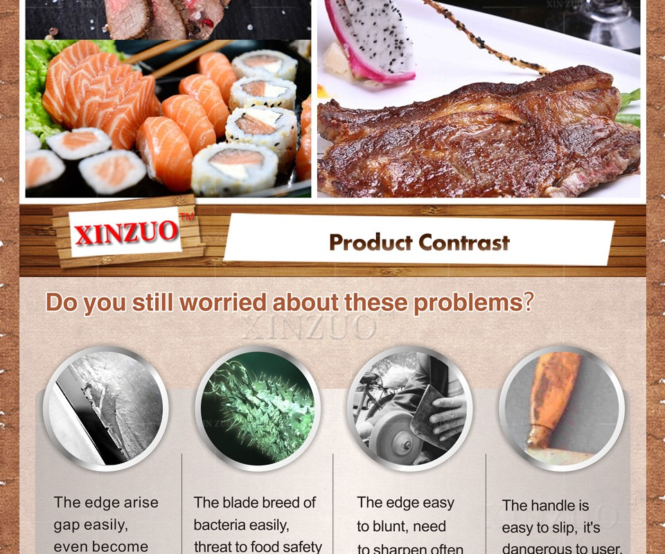 "Buy high quality 2016 XINZUO 7"" inch santoku knife Japan VG10 Damascus kitchen chef knife Japan chef knife wood handle FREE SHIPPING cheap"