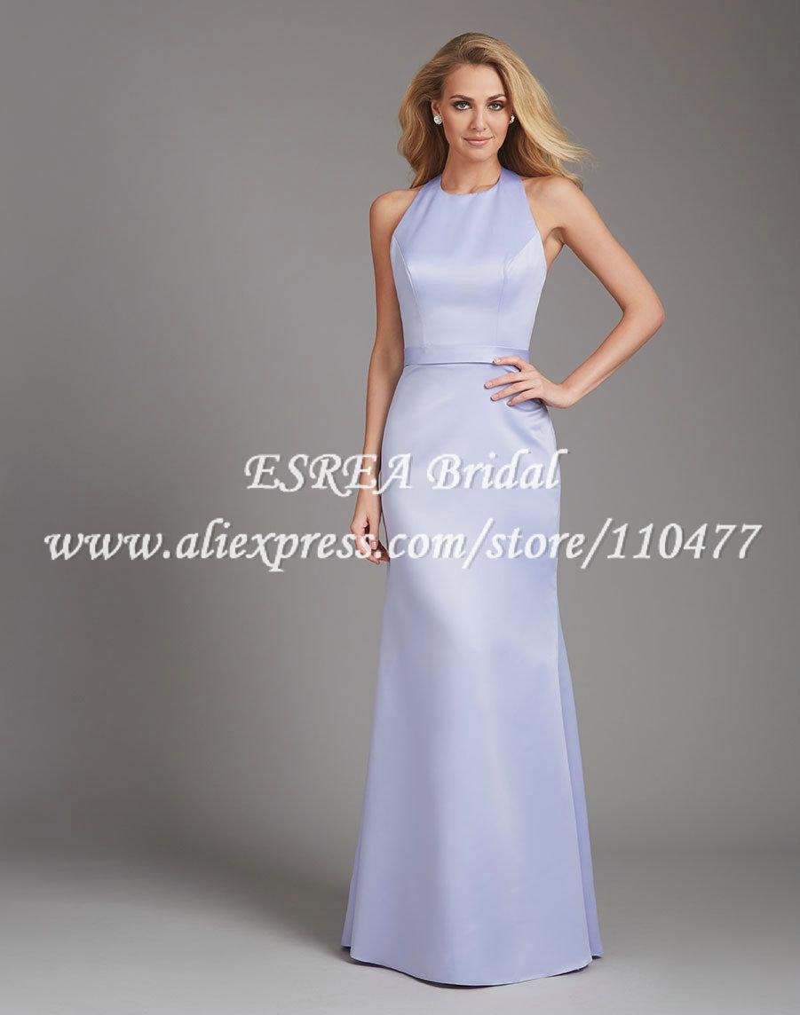 Buy simple style halter long mermaid for Backless mermaid style wedding dresses
