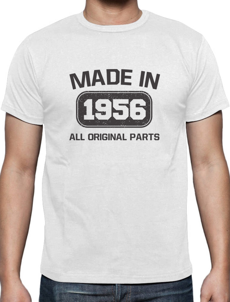 T Shirt Design Basic Top Made In 1956 60Th Birthday Gift Idea Funny Present Men Summer Short Sleeves