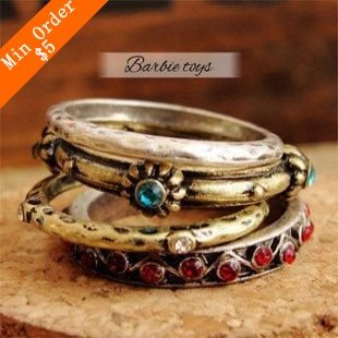 2015 New Fashion Hot-Selling National Trade Jewelry Retro Style Ring ,Jewelry Wholesale Family Of Four R449(China (Mainland))
