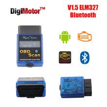 Real ELM 327 V 1.5 Bluetooth Android OBD v2.1 OBD2 Scanner Automotive EOBD CANBUS OBD 2 Diagnostic Scan Tool V1.5 ELM327 OBDII(China (Mainland))