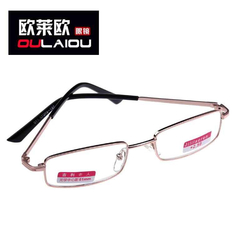 011 frame reading glasses metal glass optical