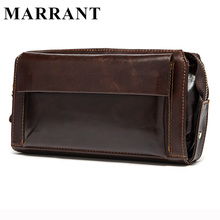 MARRANT Hot Sale Men Wallets Genuine Leather Coin Zipper Pocket Men's Long Wallet Male Clutch Bags Man Purse Small Hand Bag(China (Mainland))