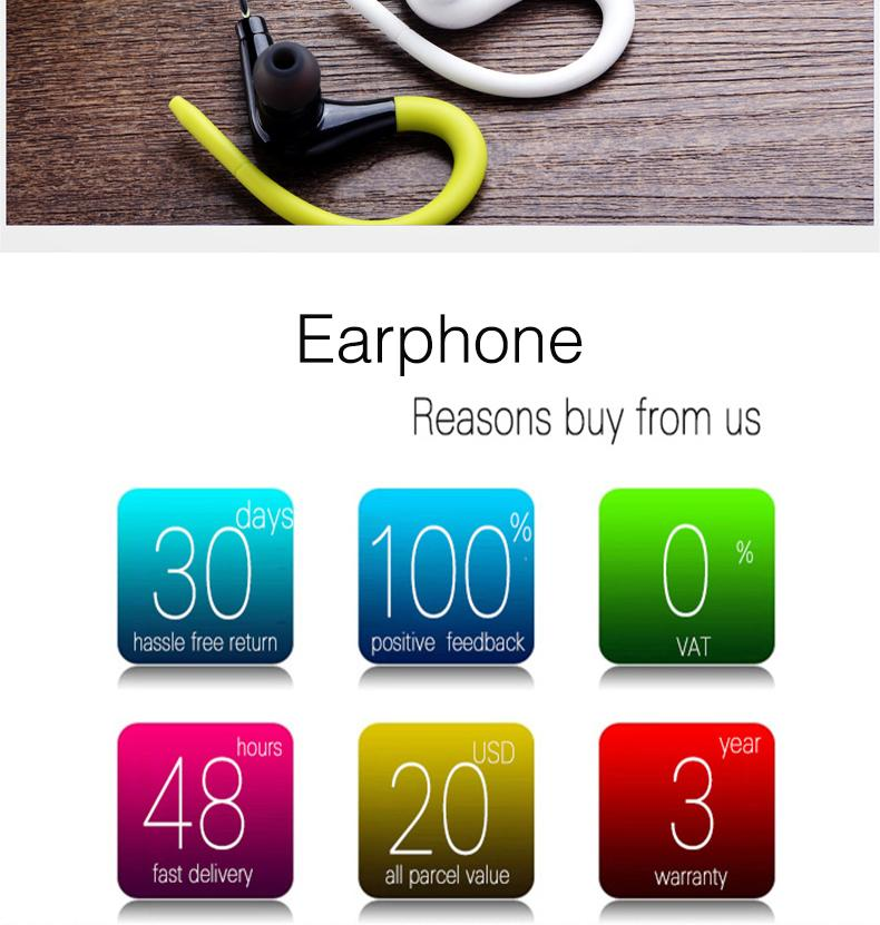 Original Sport Headphones Running Earphones Waterproof Portable Headset Bass Hifi Earbuds With Mic For All Mobile Phone MP3