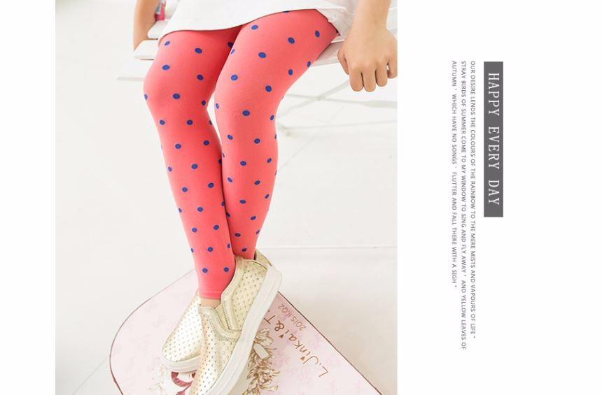2Pairs/lot New Cute Kawaii Lovely Child Girls Kids Footed Heart Dots Tights Stockings Ballet Solid Candy Colors VelvetTights