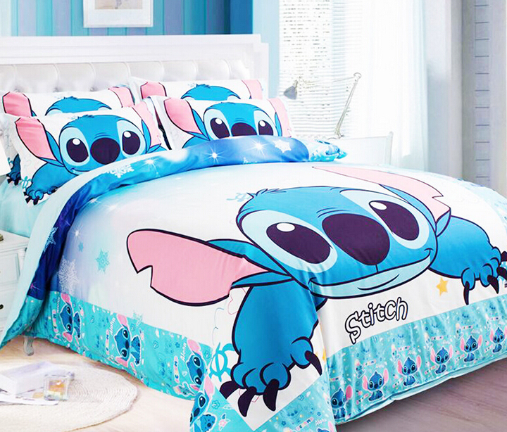 New Lilo Amp Stitch Bedding Sets Blue Boys Bed Set Designer