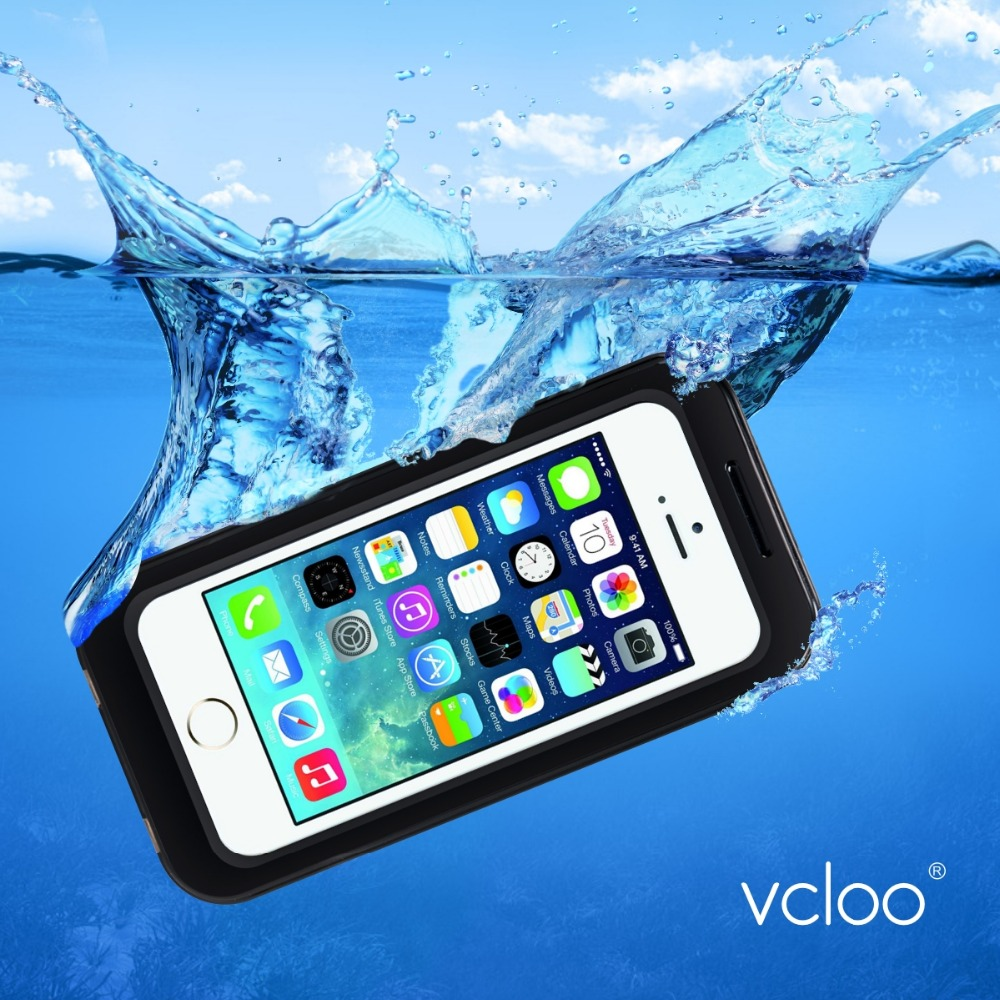 Vcloo Waterproof Case, Dust Proof, Shock Proof Case for iPhone 5S with Touch Screen Protector(China (Mainland))