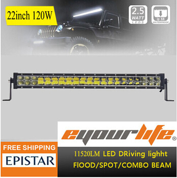 Eyourlife 22 /23/24 inch 120W led work light bar for car OFFROAD ATV 4x4 TRUCK combo& spot 180w(China (Mainland))