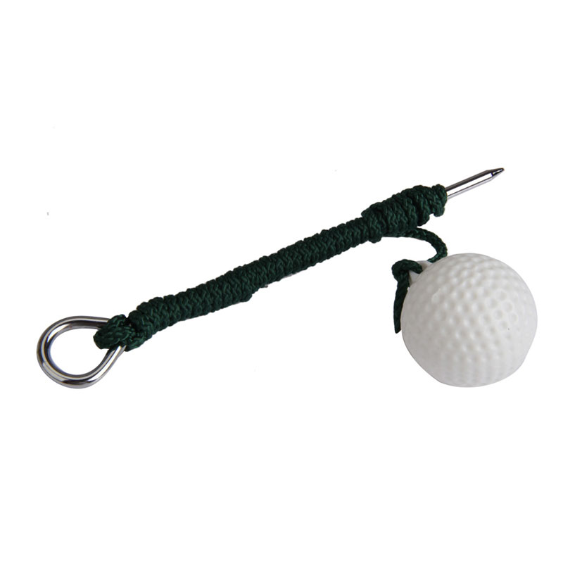 2016 High Quality1 Piece Sport Golf Plastic Practice Ball Training Balls with Steel Rope Free Shipping(China (Mainland))