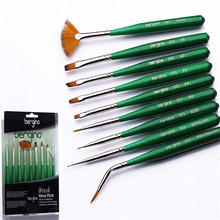 Buy 9pcs/set Watercolor Tip Nylon Hair Round Pointed Acrylic Artists Paint Brush Set Art Supplies for $11.27 in AliExpress store