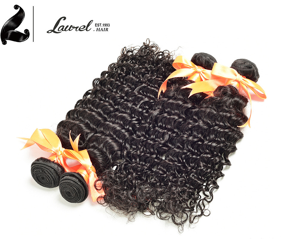 Laurel Hair Products Virgin Deep Curly Cheap 7A Brazilian Deep Wave 4 Bundles Brazilian Weave Bundles 100% Human Hair Cheapest
