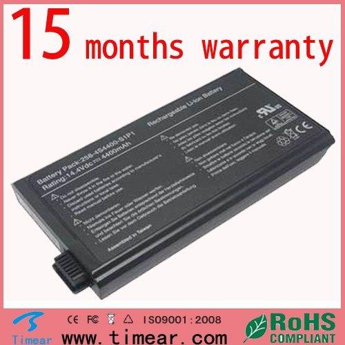 15 months warranty Replacement for Uniwill  258-4S4400-S1P1 UN258 Battery14.8V 4400mah 8 cells Laptop Battery