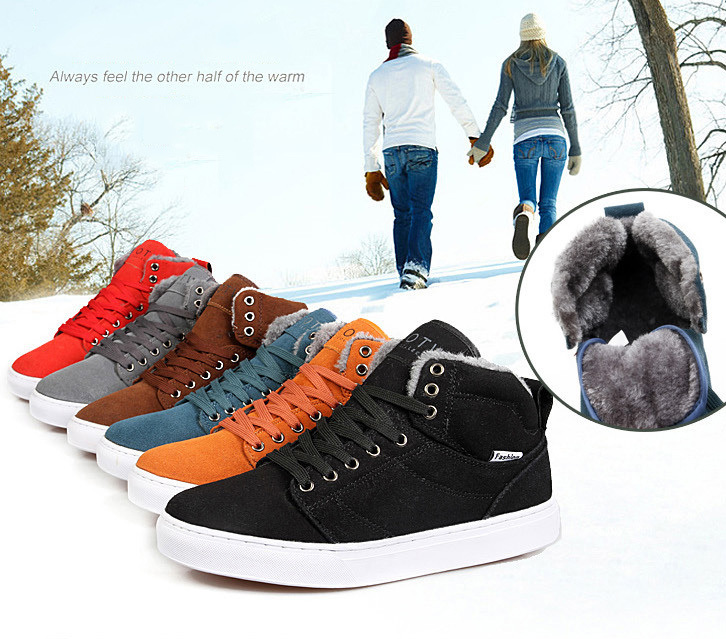 lovers fashion men boots suede Autumn shoes unisex casual flats leather classic work shoe driver martin Winter boot snow outdoor(China (Mainland))