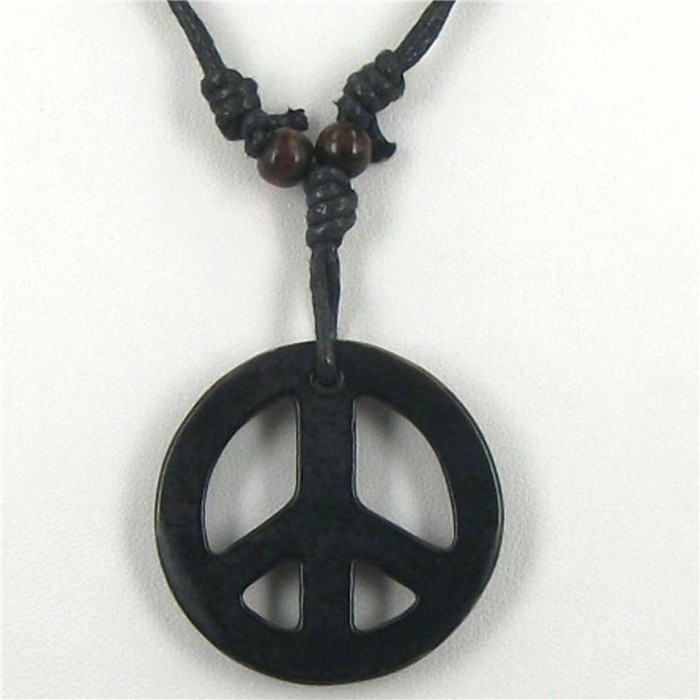 Free shipping 1pcs Tibetan Yak bone carving peace totem pendant talismans necklace Jewelry