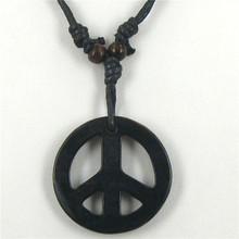 Free shipping 1pcs Tibetan Yak bone carving peace totem pendant talismans necklace Jewelry