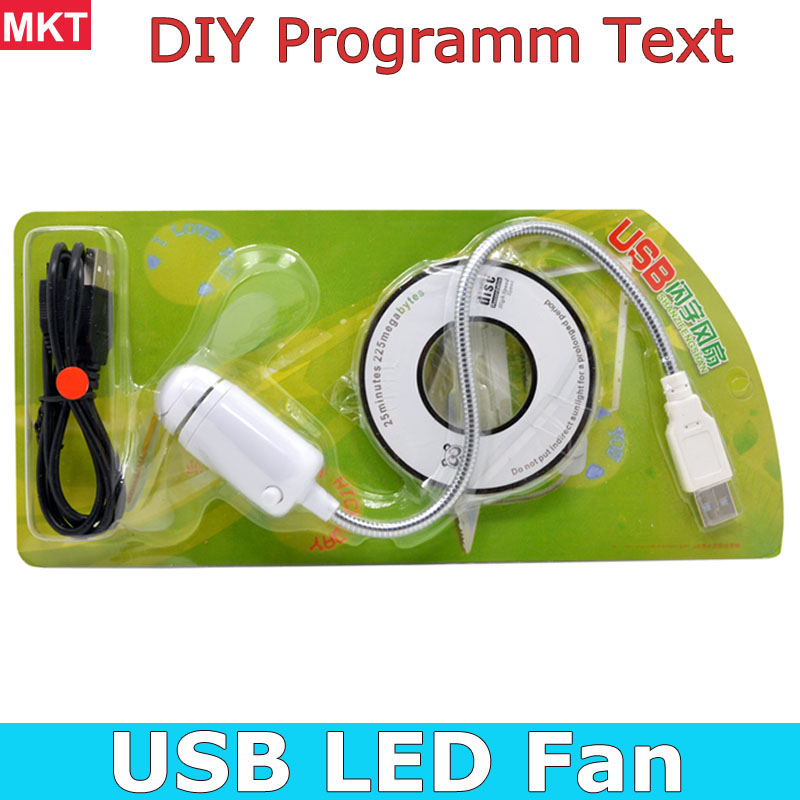 DIY Gadget Mini USB Fan LED Light Flexible Programmable LED Cooler Cooling Fan Programming Any Characters Words Messages Text(China (Mainland))