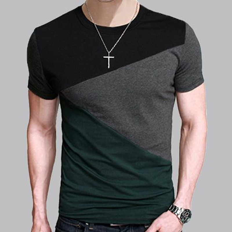 8 designs mens t shirt slim fit crew neck t shirt men