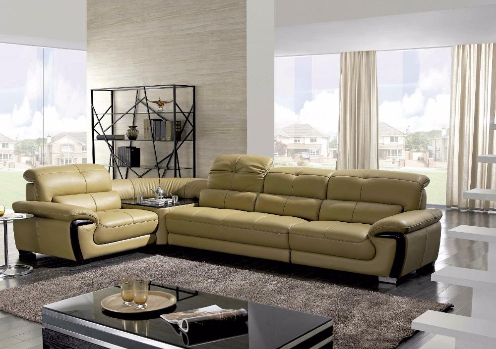 Woonkamer Meubels: Kopen wholesale zwart lederen woonkamer meubels ...
