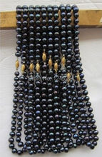 wholesale 10PCS 8-9mm Tahitian Pearl Shell Necklace Rope Chain Beads Jewelry Making Natural Stone 18inch(Minimum Order1)(China (Mainland))