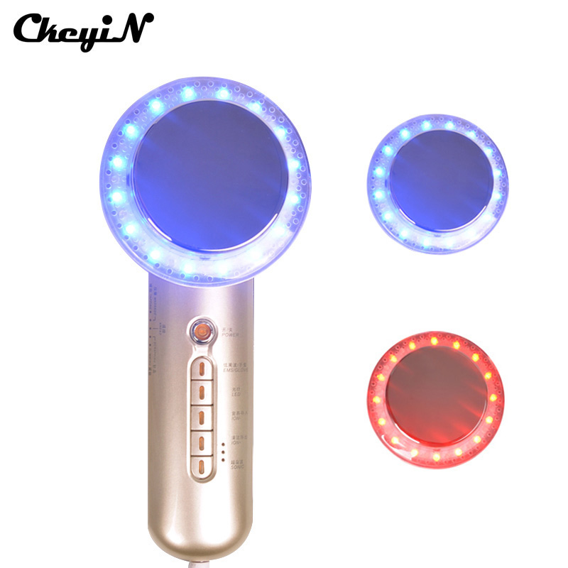 CkeyiN 6 In 1 Electric Body Facial Massage Beauty Skin Care Device EMS LED Phototherapy Sonic Face Lift Cleaner Wrinkle Remover(China (Mainland))