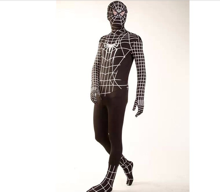 DB23728 Black spiderman costume-10