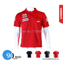 2016 Embroidery Cotton New 90 Style F1 Polo Red for Racing suits motorbike POLO Automotive overalls(China (Mainland))