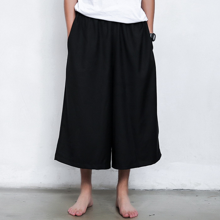 Men's Harbor Wind Wild Elegant Casual Fashion Wide Leg Loose Pants F1018(China (Mainland))